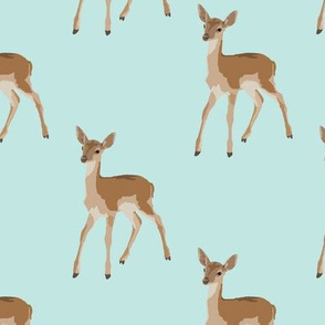 Paint by Number Baby Deer Pale blue