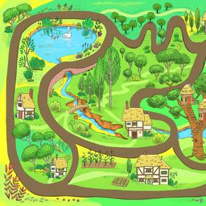 Fantasy Village Playmat