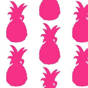 Pineapple Cutout // Hot Pink on White