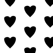 Simple Heart // Black on White
