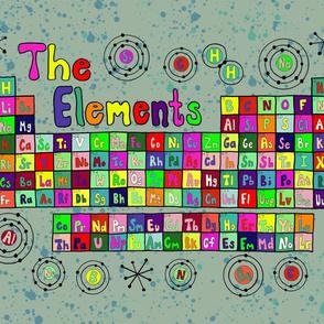 tea towel periodic table elements kitchen linen