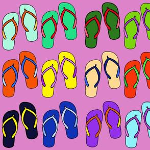Summer Fun Beach Flip Flops