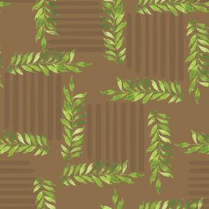 dark-background-block-leaves-style