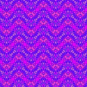 Wavy Floral Purple Leopard