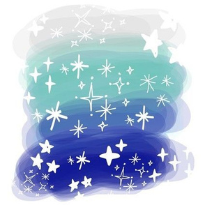 Watercolor Ombré Celestial