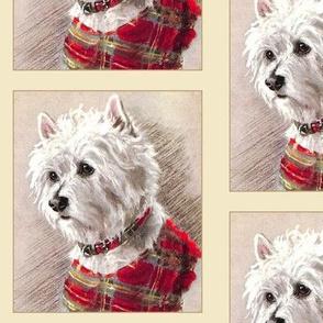 Scottish Highland Terrier Framed