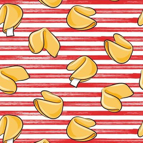 Fortune Cookies - Red stripes - take out food - LAD19