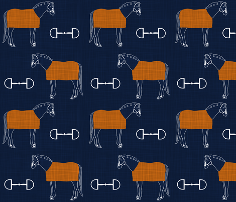 navy bits blankets fabric by cooper+craft on Spoonflower - custom fabric