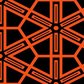 The Orange and the Black: Geometric Starburst