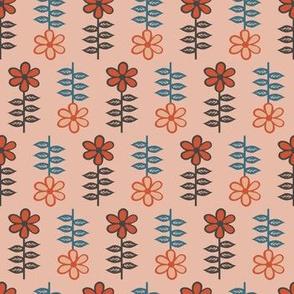 Floral pattern light orange