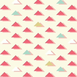 Abstract Bright Retro Triangles seamless pattern background