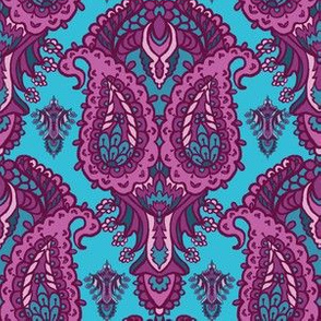 Hand drawn paisley motif illustration.