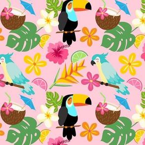 Tropically Pink Cutie Pie Hawaiian Pattern