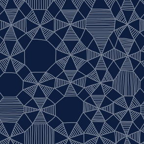 Abstract Minimalism on Navy Blue