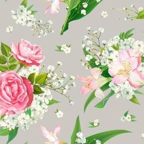 Trendy floral pattern