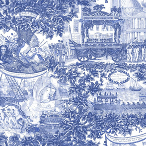 Lord Nelson Toile ~ Blue and White