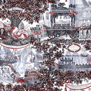 Lord Nelson Toile ~ Red, White, and Blue