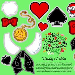 Alice in Wonderland Cosplay patches