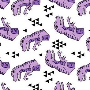dinosaurs // purple and white dino dinosaurs kids baby purple medium