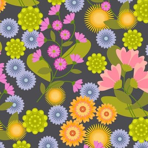Summer Floral Charcoal-01