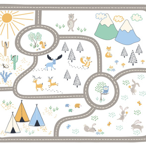 Woodland adventure playmat