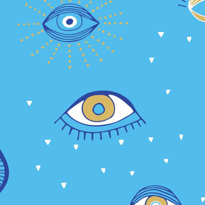 Evil Eyes Summer Pattern