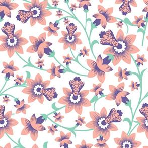 Pastel Floral seamless pattern