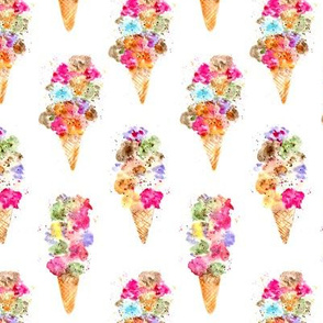Dolce vita watercolor ice cream cones || summer sweets