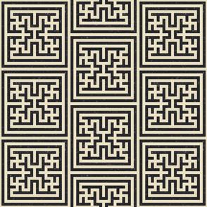 Geometric oriental- charcoal