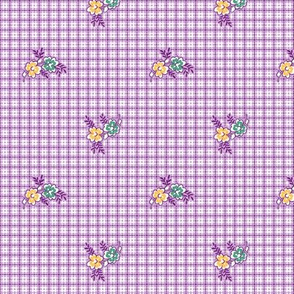 Plaid n Posies Purple