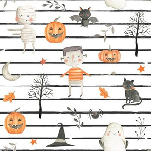 Spooktacular // Black and White Stripes