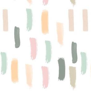 Blush, Sage and Peach Stripes