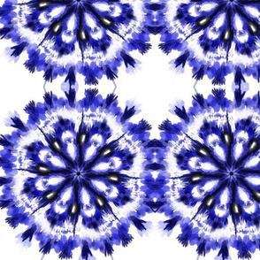 Vibrant Blue Shibori Circles