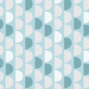 Scandinavian retro moon phases half circles soft pastel moon gender neutral soft blue SMALL