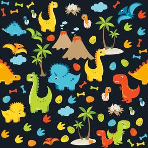 Dinosaur Cuties Black