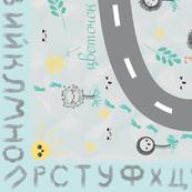 Russian neutral meadow playmat