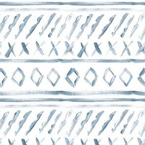 Indigo Watercolor Mud Cloth // Small