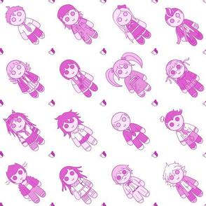 16 Pink Murder Dolls