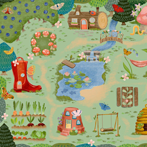 Fairy Garden Playmat Yard