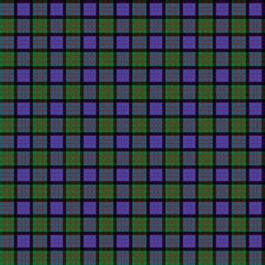 "Cameron tartan, modern colors, 1"" blend (no twill lines)"