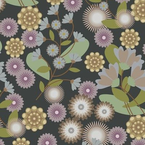 Summer FloralDusted Charcoal-01
