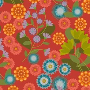 Summer Floral Red-01