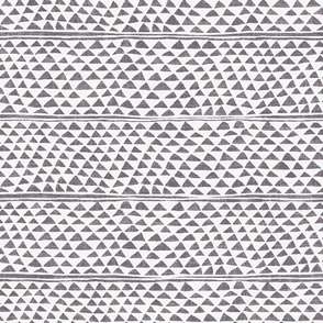 all over small triangle in gray on linen