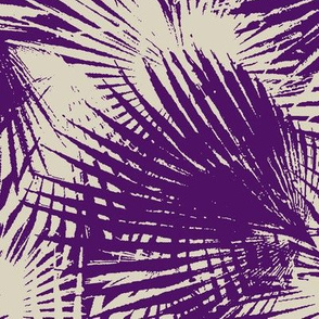 palm leaves in purple and gray