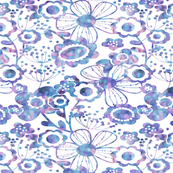 WHIMSY FLORAL (BLUE)
