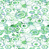 WHIMSY FLORAL (GREEN BLUE)