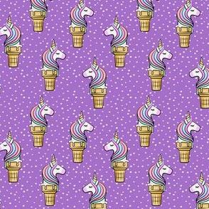 (small scale) Unicorn Cones - Unicone - purple  polka - LAD19BS