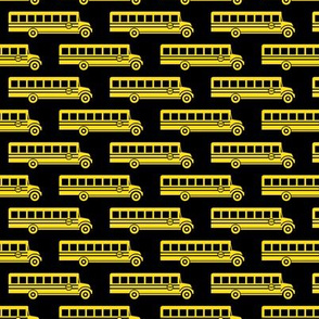 School bus - yellow on black  - back to school -  LAD19