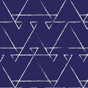 Tribal triangles indigo
