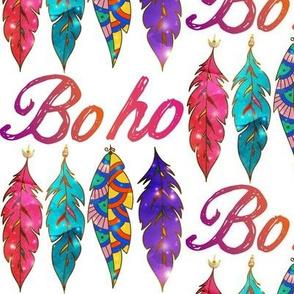 Colorful Boho Feathers
